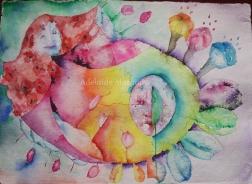 Maternidade, aguarela, 2014
