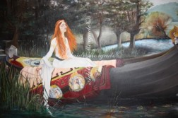 "Réplica de ""Lady of shallot "" de John William Waterhouse, 2010"