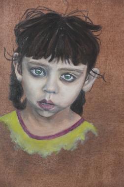 Menina afegã, 2015, Óleo sobre tela