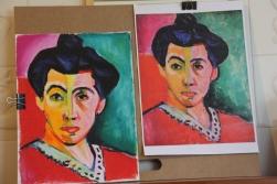 Retrato de madame Matisse, 2015, Pastel a óleo